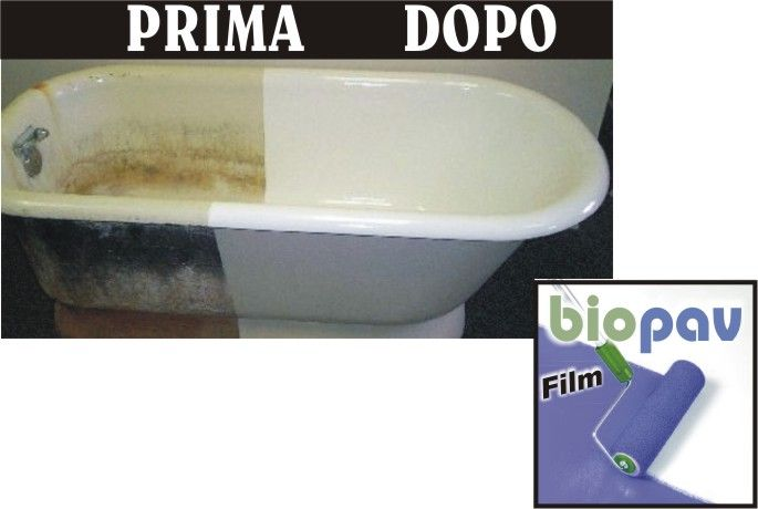 Biopav wall pavimenti in resina biopav by prochima - Rinnovare la vasca da bagno ...
